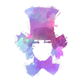 Watercolor Hatter - pillow