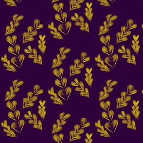Harvest Hearts - Gold on Purple