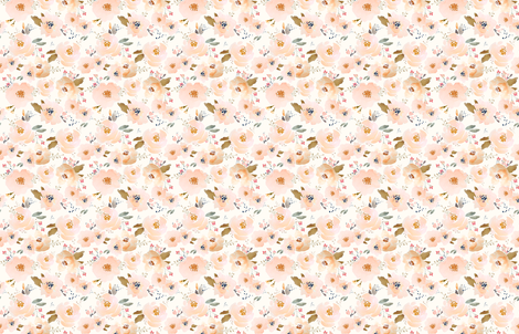 Indy Bloom Peachy Blossoms A fabric by indybloomdesign on Spoonflower - custom fabric