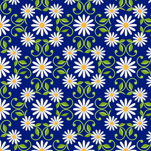 Daisy Square- blue- extra large
