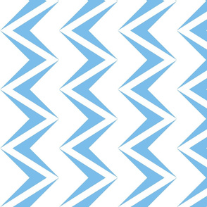 nested chevron modern baby blue