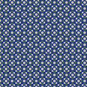 Daisy Square- blue- medium