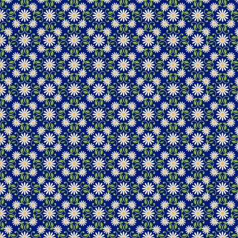 Daisy Square- blue- small fabric by shala on Spoonflower - custom fabric