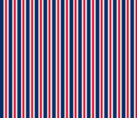 Navy and Red Stripes fabric by littlelionworkshop on Spoonflower - custom fabric