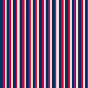 Navy Red and Cream Stripes