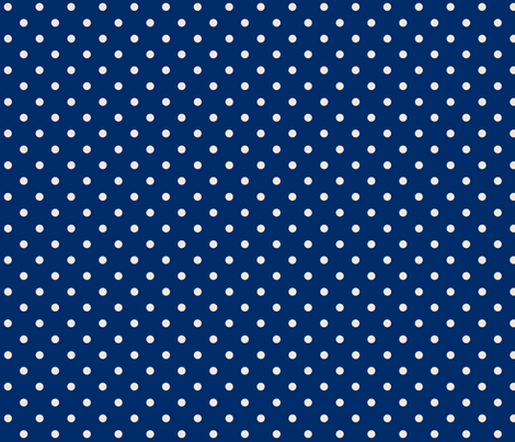 Navy and Cream Dots fabric by littlelionworkshop on Spoonflower - custom fabric