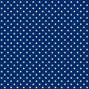 Navy and Cream Dots