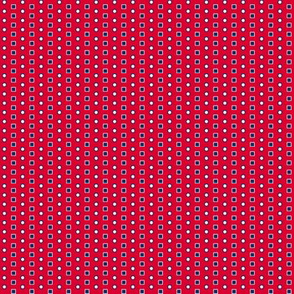 Red and Navy  Squares and Circles