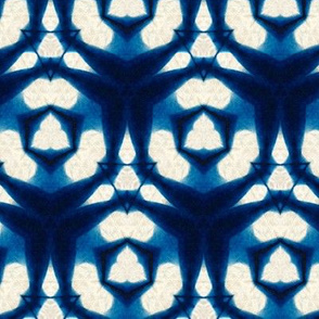 Indigo dyed hexagons