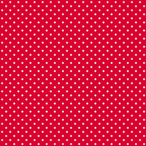 Red with Cream Dots
