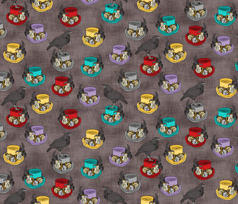 Steampunk Top Hats Plain fabric by pond_ripple on Spoonflower - custom fabric