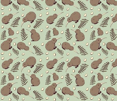 Kiwi Bird fabric by svaeth on Spoonflower - custom fabric