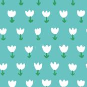 Field of Tulips Blue