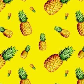 Pineapple Bright Yellow - Small Print