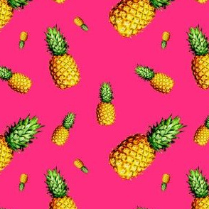 Pineapple Bright Pink - Small Print