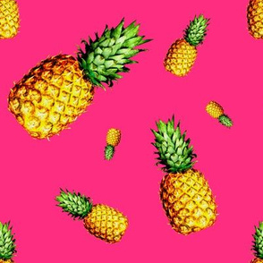 Pineapple Bright Pink - Large Print