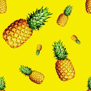 Pineapple Bright Yellow - Large Print