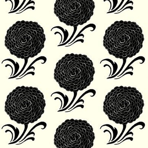 Stylized Floral in black
