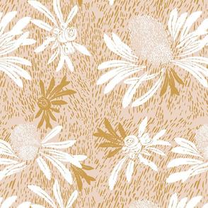 Banksia Bark - putty gold