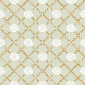rose lattice - golden spindle