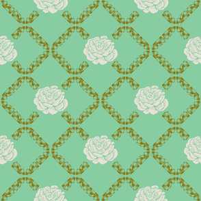 rose lattice - green house