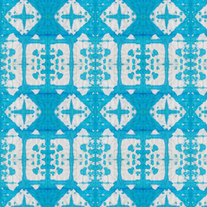 Shibori Windows - Serenity Blue