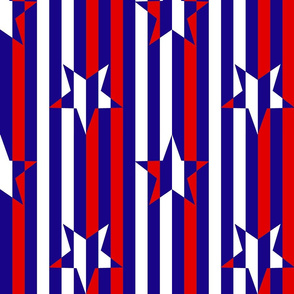Red White Blue Stars and Stripes