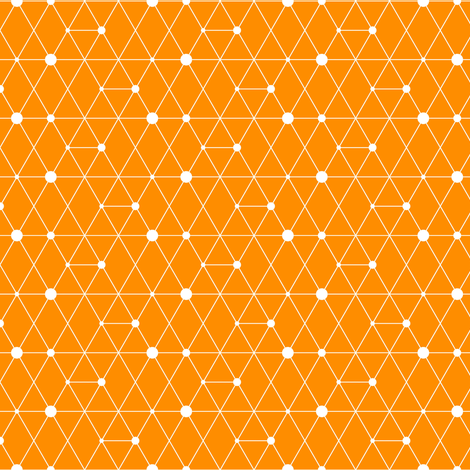 Orange A-Train fabric by creativefiasco on Spoonflower - custom fabric