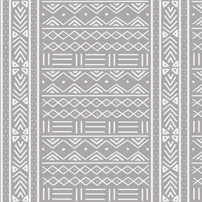 Light Grey African Mudcloth