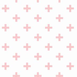 blush and white swiss