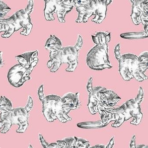 Retro Kittens in Pink