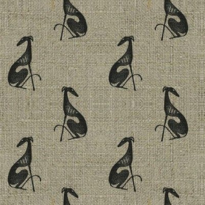 Block-printed linen