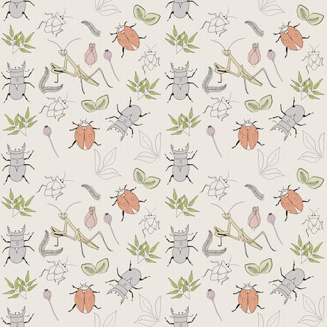 Forest-School-Pencil-Illustration fabric by linziloop on Spoonflower - custom fabric