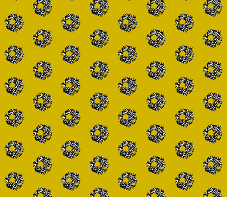 crystaleddymustard fabric by ana_williams on Spoonflower - custom fabric
