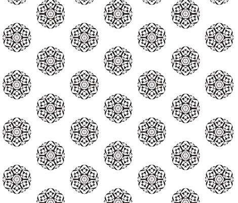 Geometric Spin-Off -  Black on White fabric by rhondadesigns on Spoonflower - custom fabric