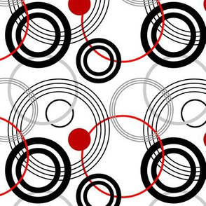 Black and red rings