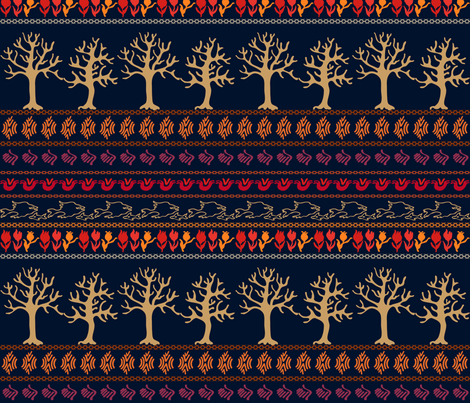 Bohemian border fabric by svetlana_kononova on Spoonflower - custom fabric