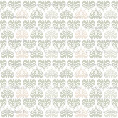 Light grey damask pattern