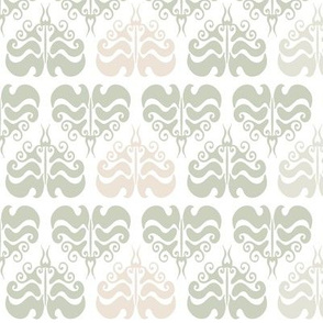 Light grey damask pattern