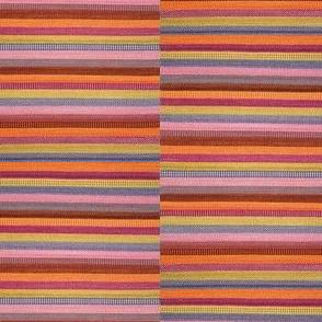striped floor mat