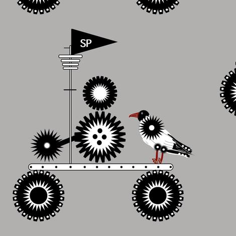 Steampunk Seagull fabric by gargoylesentry on Spoonflower - custom fabric