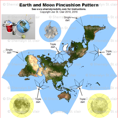 Earth and Moon Pincushion