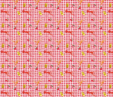 Crawfish Boil fabric by natalievmason on Spoonflower - custom fabric