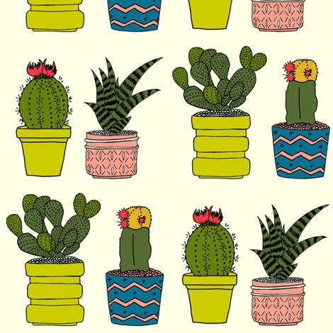 Four Cacti fabric by carrie_narducci on Spoonflower - custom fabric