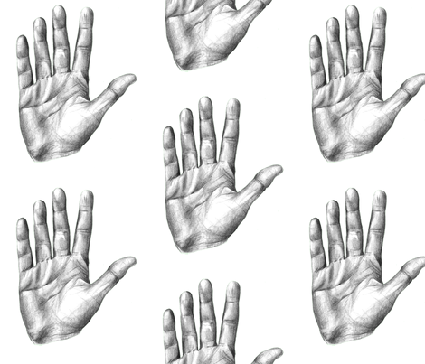 High Five - Large Scale fabric by taraput on Spoonflower - custom fabric