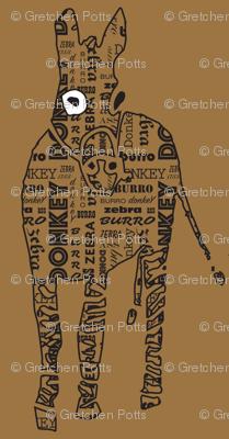 Typographic Burro