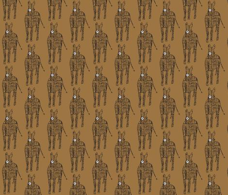 Typographic Burro fabric by sizemode on Spoonflower - custom fabric