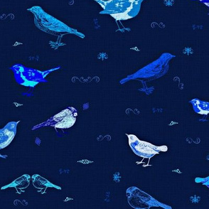 I love blue! 6 birds