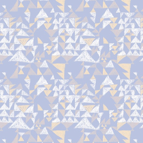 Textured Mod Triangles in camel, white and serenity blue