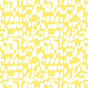 white spots polka dot in yellow